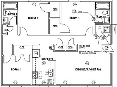 Unit A2 - Three Bedroom / Two Bath - W/D*